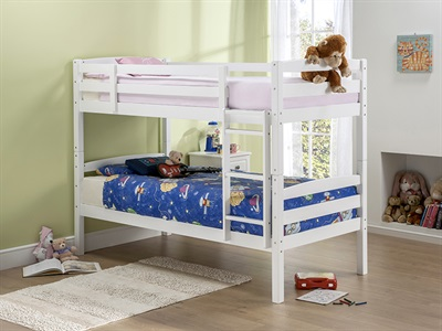 Snuggle Beds Cosmos in White 3 Single Bunk Bed
