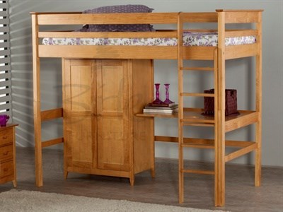 Birlea Cotswold (Highsleeper) Pine 3 Single Natural Pine High Sleeper