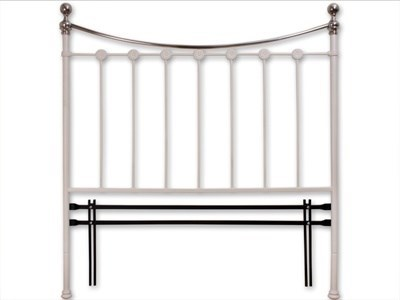 Original Bedstead Co Carrick Headboard only 3 Single Satin White Headboard Only Metal Headboard