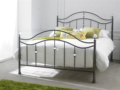 Limelight Cygnus Black 4 6 Double Metal Bed
