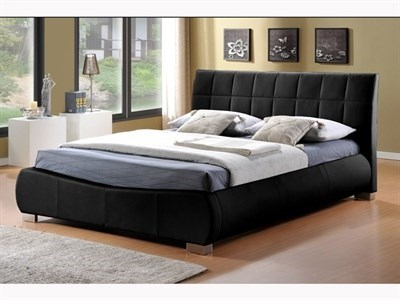 Limelight Dorado Black 4 6 Double Black Leather Bed
