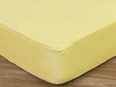 Delis Cotton Fitted Sheet/ Protector 2 6 Small Single Beige Protector