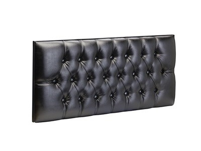 New Design Diamante Fabric 3 Single Aubergine Chenille Fabric Headboard