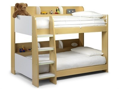 Julian Bowen Domino Bunk Bed 3 Single Natural Bunk Bed