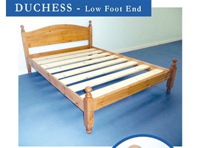 Windsor Duchess 3 Single Paint Black Low Foot End Wooden Bed