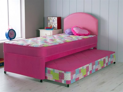 AirSprung Emma Guest Bed 3 Single Pink Guest Bed with Basic Mattresses Guest Bed