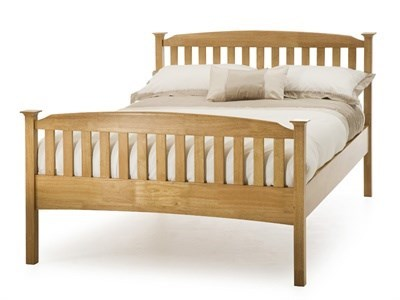 Serene Furnishings Eleanor High Foot End (Honey Oak) 3 Single Honey Oak Wooden Bed