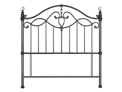 Bentley Designs Elena Black 4 6 Double Black Nickel Headboard Only Metal Headboard