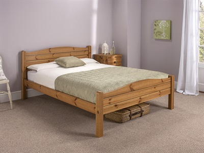 Snuggle Beds Elwood Antique 3 Single Honey Antique Pine Wooden Bed