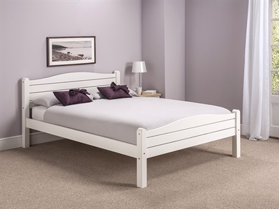 Snuggle Beds Elwood White 3 Single White Wooden Bed