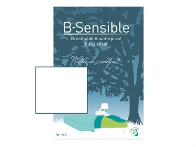 B Sensible Breathable and Waterproof Fitted Sheet White 5 King Size White Protector