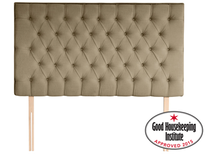 Rest Assured Florence 6 Super King Sandstone Fabric Headboard