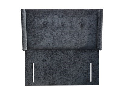 New Design Grace Leather 4 Small Double Black Faux Leather Leather Headboard