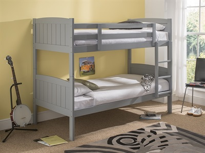 Snuggle Beds Taylor Bunk Grey 3 Single Bunk Bed