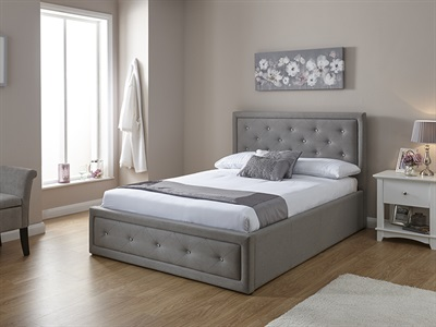 GFW Hollywood Stone 3 Single Ottoman Bed