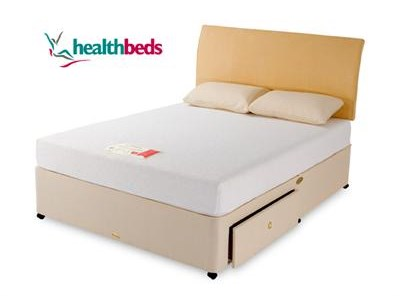 Healthbeds Ltd Memory Flex 4 6 Double Platform Top - No Drawers Divan