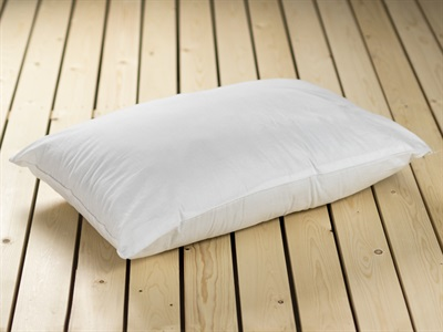 British Bed Company The Cotton Pillow Hollowfibre Single Pillow
