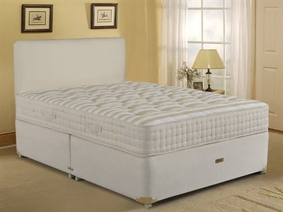 Sleepeezee Potters Premier 1400 Divan Set 4 6 Double Sprung Edge - No Drawers Divan