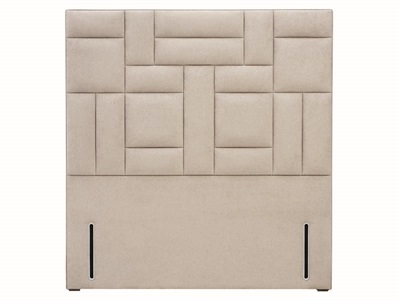 Hypnos Charlotte - Euro Wide 4 6 Double Slate Weave Fabric Headboard