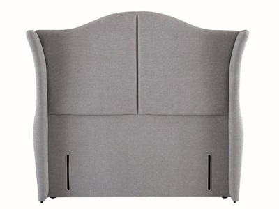 Hypnos Katherine - Winged Euro Wide 2 6 Small Single Imperio Biscuit Fabric Headboard