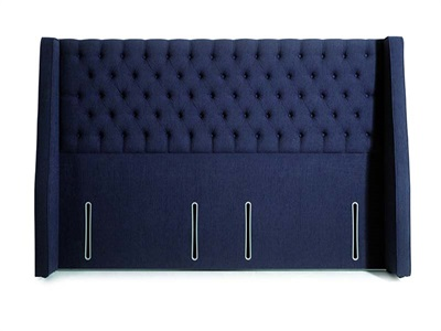 Hypnos Vienna - Winged Euro Wide 4 6 Double Slate Weave Fabric Headboard