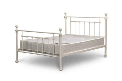 Snuggle Beds Iceni Cream 4 6 Double Metal Bed