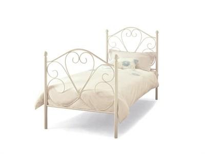 Serene Furnishings Isabelle 3 Single White Metal Bed