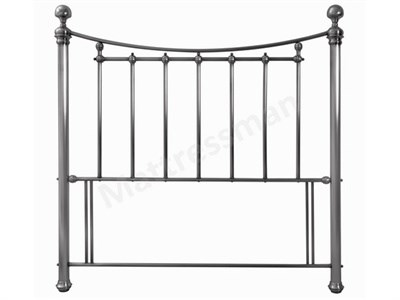 Bentley Designs Isabelle 4 6 Double Antique Nickel Metal Headboard
