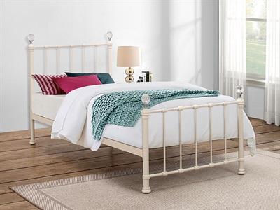 Birlea Jessica Cream 3 Single Cream Metal Bed