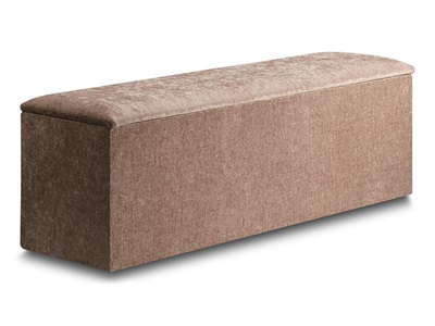 New Design Jenny Ottoman Aubergine Chenille Furniture Blanket Box