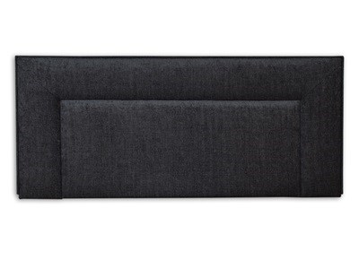 New Design Jodie - Charcoal 2 6 Small Single Charcoal Chenille Fabric Headboard