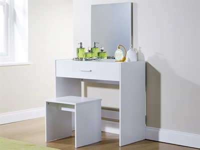 GFW Julia Dressing Table Set - White White Dressing Table