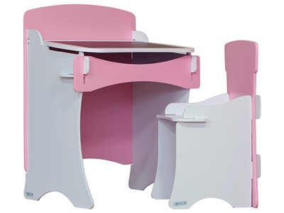 Kidsaw Pink Desk and Chair Desk