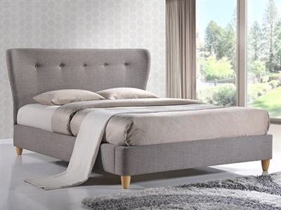 Birlea Kensington 4 6 Double Fabric Grey Fabric Bed