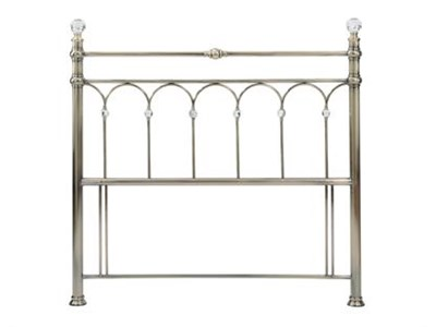 Bentley Designs Krystal Brass 4 6 Double Brass Metal Headboard