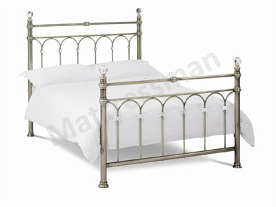 Bentley Designs Krystal Brass 4 6 Double Brass Slatted Bedstead Metal Bed