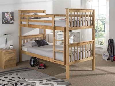 Snuggle Beds Karina Bunk - Natural 3 Single Natural Bunk Bed