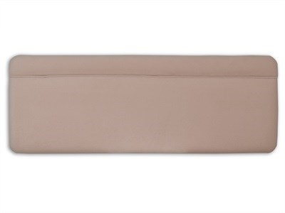 New Design Katie - Linen Textured 5 King Size Linen Textured Velour Fabric Headboard