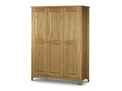 Julian Bowen Kendal 3 Door Wardrobe Flat Packed Wardrobe