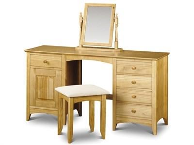 Julian Bowen Kendal Twin Pedestal Dressing Table Flat Packed Dressing Table