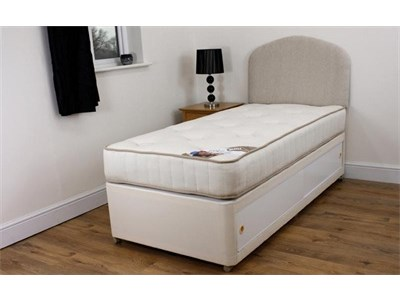Divans storage beds 4 drawer ottoman at mattressman for Single divan bed with slide storage