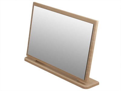 Furniture Express Knightsbridge Large Mirror Cream Gloss and Oak Assembled Mirror