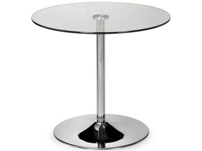 Product photograph showing Kudos Glass Pedestal Table