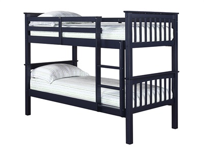 Furniture Express Leo Bunk Navy 3 Single Bunk Bed