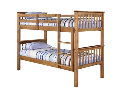 Furniture Express Leo Bunk Pine 3 Single Bunk Bed