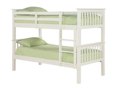 Furniture Express Leo Bunk White 3 Single Bunk Bed