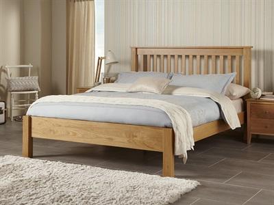 Serene Furnishings Lincoln 6 Super King Honey Oak Wooden Bed
