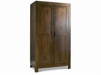 Bentley Designs Lyon Walnut Double Wardrobe Walnut Wardrobe