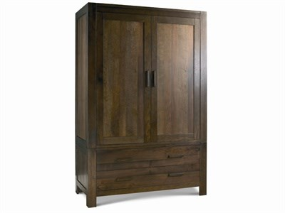 Bentley Designs Lyon Walnut Large Double Wardrobe Walnut Wardrobe