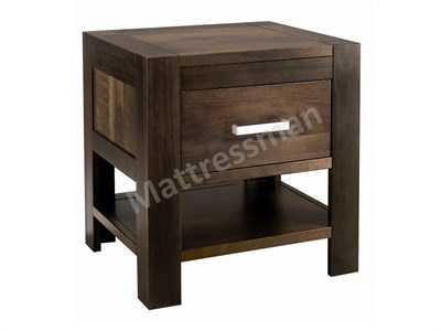 Bentley Designs Lyon Walnut 1 Drawer Nightstand Walnut Bedside Chest